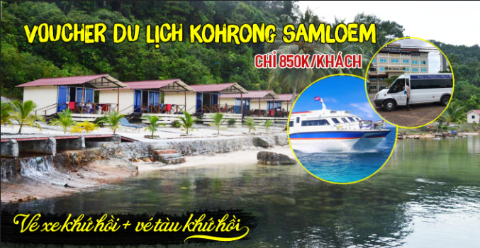 combo du lich ha tien - Combo tàu xe khứ hồi từ Hà Tiên đến đảo Koh Rong Samloem hoặc Koh Rong